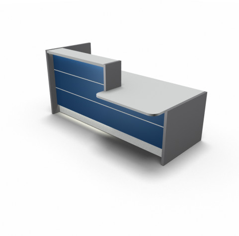 Valde Straight Reception Desk with DDA Wheelchair Access Area