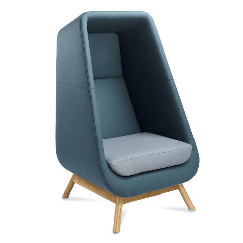 Muse Privacy Booth Chair Wooden Frame