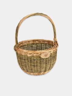 English Round Shopping Basket