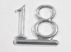 18th Birthday Cake Decoration - Silver number 18