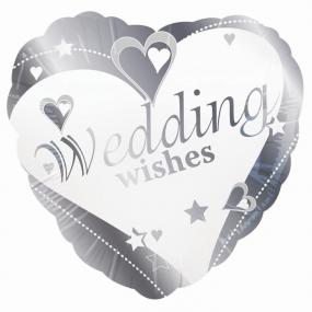 Wedding Foil Balloon - Hearts and Stars