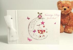 Naming Day Guest Book - Pink By Hammond Gower