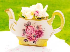 Truly Scrumptious Rose Teapot Vase