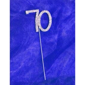 Diamante 70th Birthday Cake Decoration