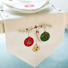Festoon Christmas Table Runner By Peggy Wilkins