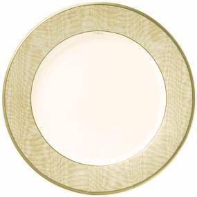 Gold Paper Plates - Caspari Moire Gold Dinner Size