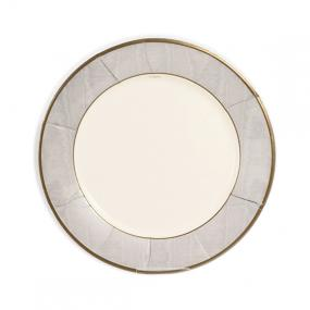 Silver Paper Plates Dinner Size by Caspari