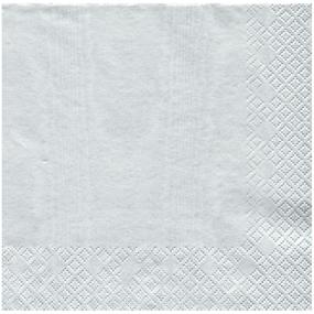 Silver Napkins Dinner Size By Caspari