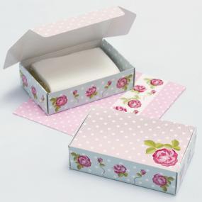 Vintage Rose Cake Boxes  x 10