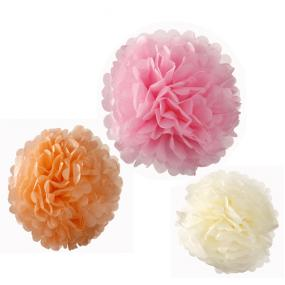 Pastel Paper Party Pom Poms x 3
