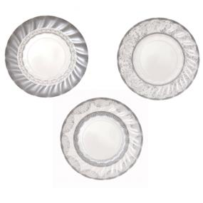 Silver Party Porcelain Small Paper Plates