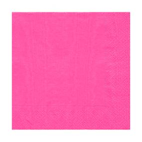 Hot Pink Luncheon Size Paper Napkins by Caspari