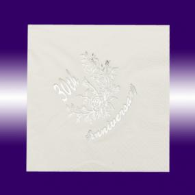 30th Pearl Wedding Anniversary Napkins - Luncheon size
