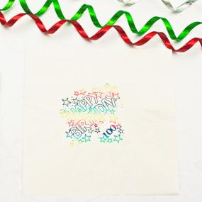 100th Birthday Napkins - Luncheon Size Multi Coloured