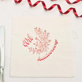 40th Ruby Wedding Anniversary Luncheon Napkins