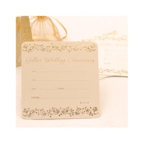 Golden Wedding Anniversary Invitations Single Sided