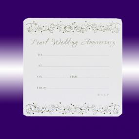 Pearl Wedding Invitations - Single Sided