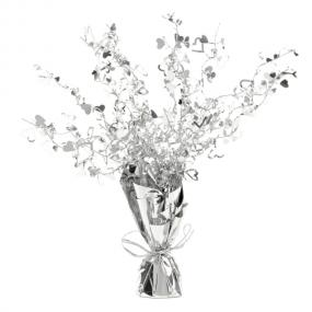 Silver Heart Table Centrepiece