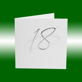 18th Birthday Invitations - Silver Stars