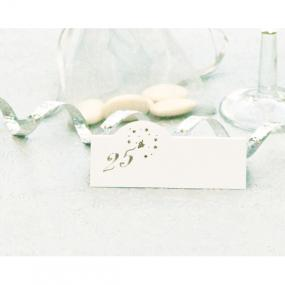 25th Silver Wedding Anniversary Place Cards x 12