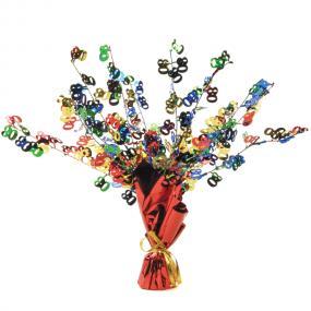 80th Birthday Table Centrepiece - Multi Coloured