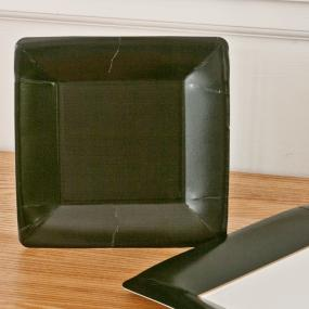 Black Square Party Side Plates by Caspari