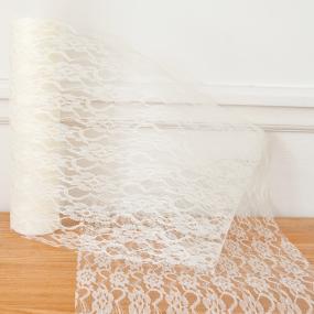 Ivory Lace Net On A Roll 29cm x 10m