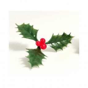 Holly and Berries Christmas Cake Decoration