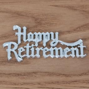 Retirement Cake Decoration Silver