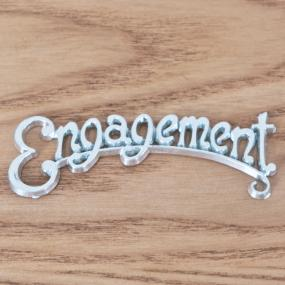 Engagement Cake Decoration - Silver Word