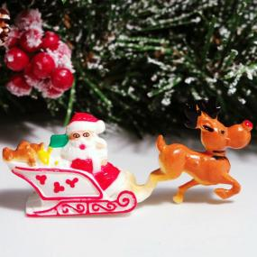 Reindeer and Sleigh Christmas Cake Decoration