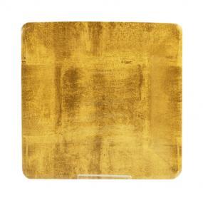Gold Square Paper Side Plates by Caspari