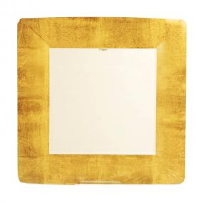Gold Square Paper Dinner Plates by Caspari