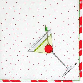 Christmas Spirit Cocktail Napkins by Caspari