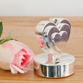 Silver Heart Balloon Weight