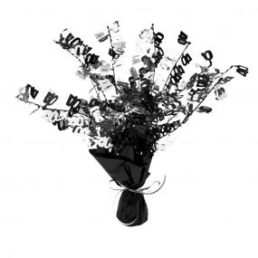 40th Birthday Table Centrepiece - Black and Silver