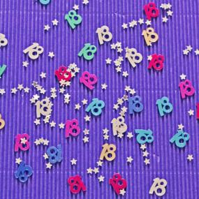 18th Birthday Multi Coloured Table Confetti