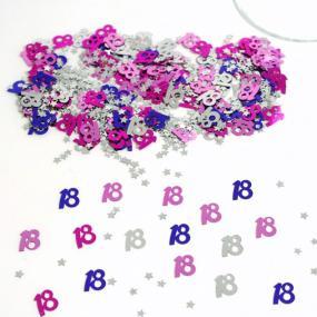 18th Birthday Pink Table Confetti