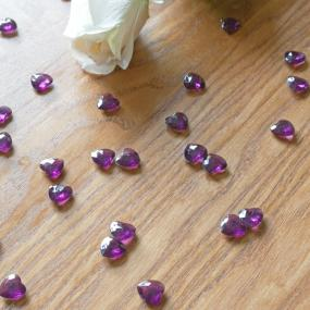 Dark Purple Heart Diamantes x 75
