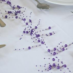 Purple Pearl Garland - 2 metre