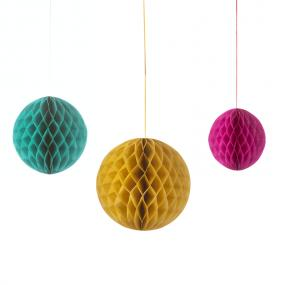 Floral Fiesta Honeycombs x 3 - Hanging Party Decorations