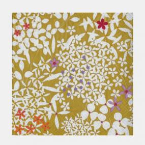Gold Floral Lace Paper Dinner Napkins By Caspari