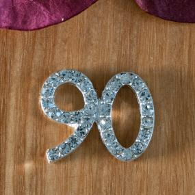 Small Diamante 90th Birthday Cake Decoration