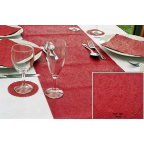 Moments Ornament Embossed Red Paper Table Runner