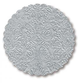 Moments Ornament Embossed Silver Coasters