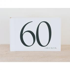 Black and White 60th Birthday Guest Book