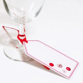 Red and White Christmas Place Setting Tags