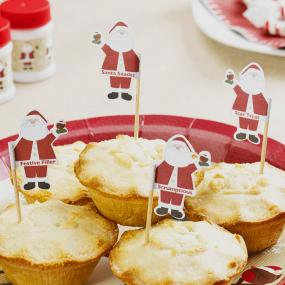 Father Christmas Mince Pie Picks / Canape Sticks