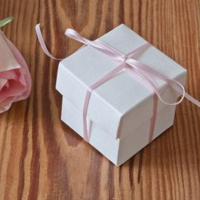 White Silk Effect Favour Box