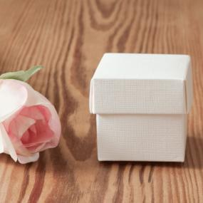 White Silk Effect Favour Box
